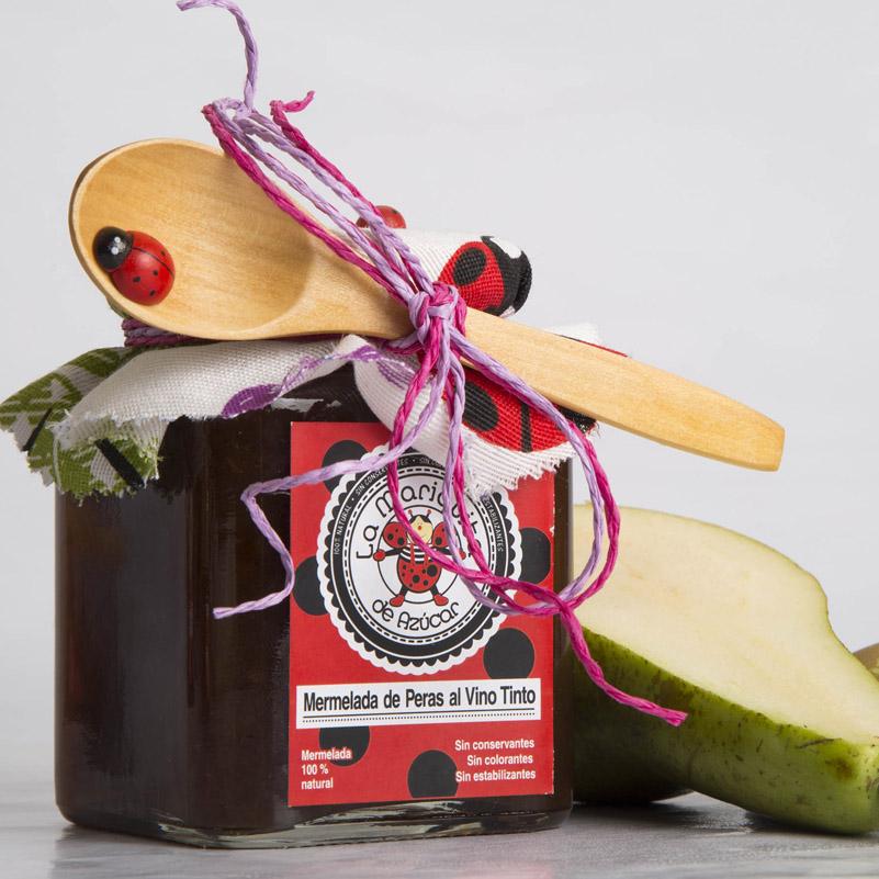mermelada de peras al vino tinto