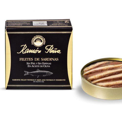 filetes de sardina sin piel y sin espinas