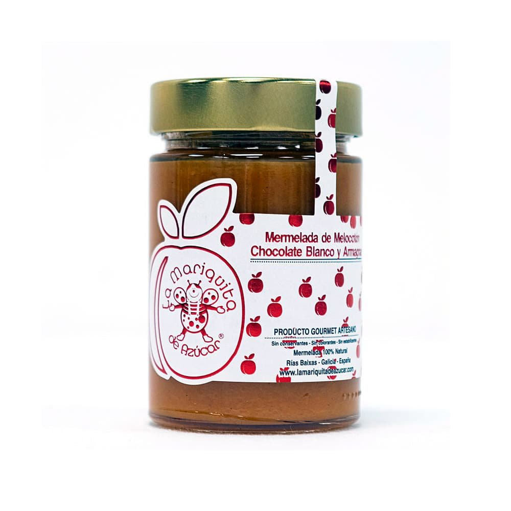 Mermelada-de-melocotón,-chocolate-blanco-y-Armanac---LA-MARIQUITA-DE-AZUCAR