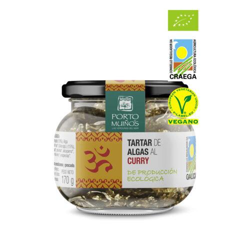 tartar de algas al curry portomuiños