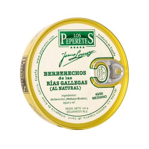 Berberechos al natural 40/50 piezas Los Peperetes
